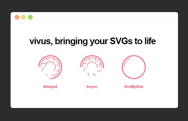 SVG路径线条动画效果插件Vivus.js