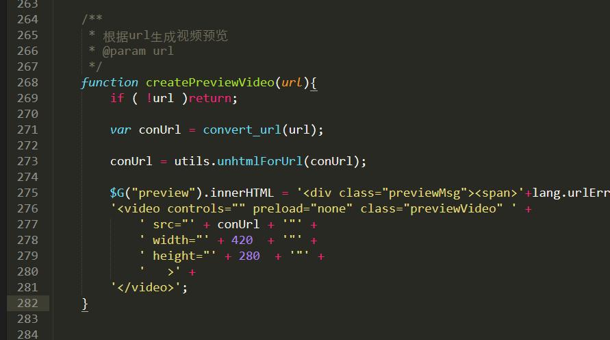 修复ueditor添加上传mp4视频无法预览